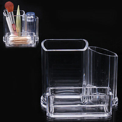 Clear Makeup Cosmetic Organizer Lipstick Brush Display Holder Stand