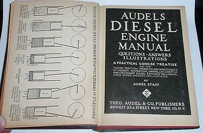 AUDELS DIESEL ENGINE MANUAL Questions and Answers 1960