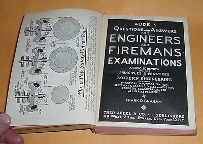 Audels Questions And Answers For Engineers And Firemans Examinations 1954