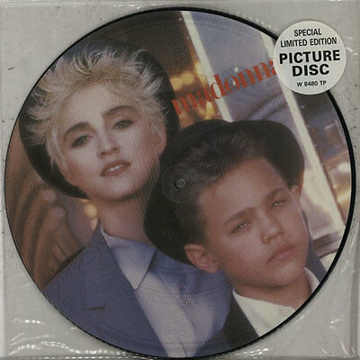 """Open Your Heart - Stickered Slv Madonna 12"""" vinyl picture disc record UK"""