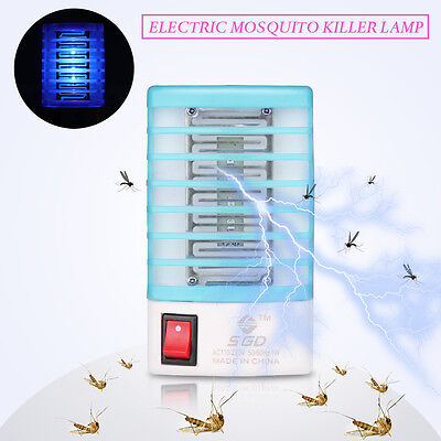 1x Indoor LED Electric Mosquito Fly Bug Insect Trap Zapper Killer Night Lamp