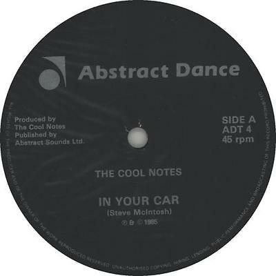 """Cool Notes In Your Car 12"""" vinyl single record (Maxi) UK ADT4 ABSTRACT DANCE"""
