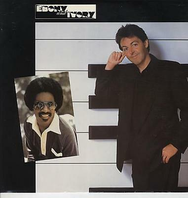 "Paul McCartney an... Ebony & Ivory - shrink UK 12""  record (Maxi)"