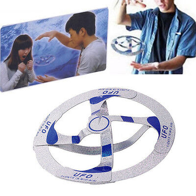 UK Interesting Mystery UFO Floating Flying Disk Hovers Saucer Magic Trick Toy