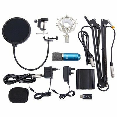 TONOR Professional Condenser Microphone Mic with  Suspension Boom Pop Filter