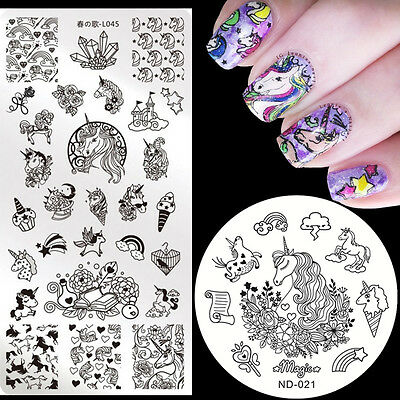 Halloween Nail Art Stamping Plates Stamp Image Template Stencil  Decoration DIY