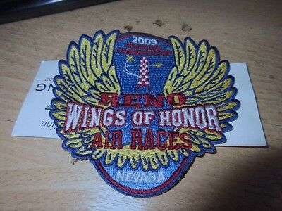 2009 National championship Air Races. Reno, New Patch + ticket.Wings of Honor