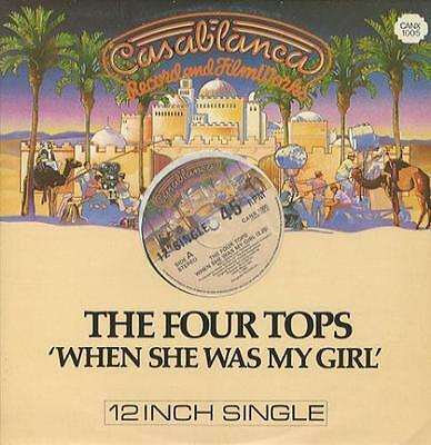 """When She Was My Girl Four Tops UK 12"""" vinyl single record (Maxi) CANX1005"""