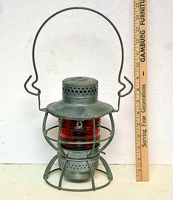 Pennsylvania Railroad PRR Dressel Railroad Lantern Red Globe