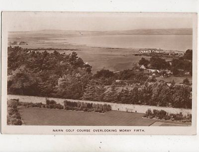 Nairn Golf Course Overlooking Moray Firth 1951 RP Postcard 501b