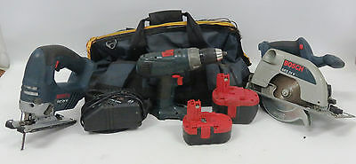 Bosch Circular Saw, Bosch Jigsaw, Batteries And Charger In Bag - 90519