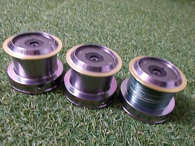 3x Okuma Axeon AXS65 fishing reel spare spools + FREE UK POST