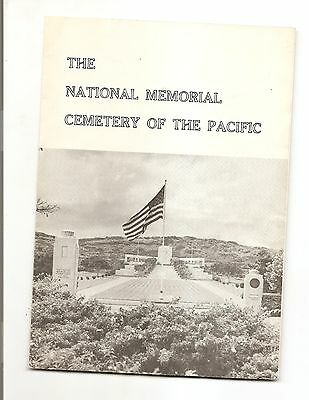 NATIONAL MEMORIAL CEMETARY OF THE PACIFIC BROCHURE 1972 HONOLULU HAWAII Pamphlet