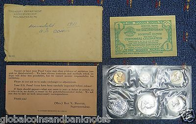 United States - 1961 Uncirculated Coin Set w/ 1 Wooden Nickel Token