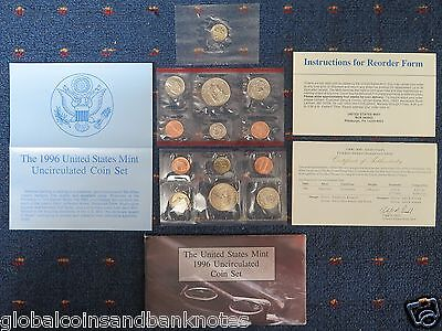 United States - 1996 Uncirculated Coin Set
