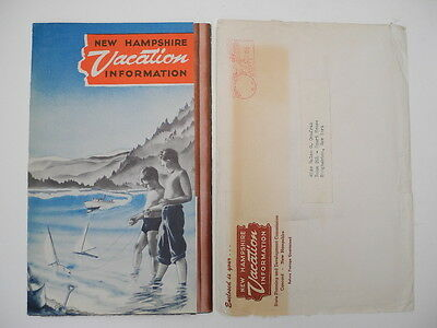 1950 New Hampshire Vacation Information Folder and Mailing Envelope