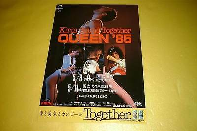 Queen Japan Tour Concert Flyer 1985 Handbill Leaflet