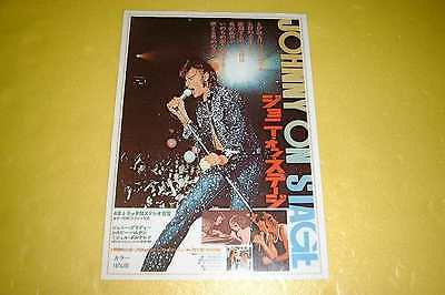 Johnny On Stage Japan Movie Flyer 1973 Handbill Leaflet Johnny Halliday Sylvie V