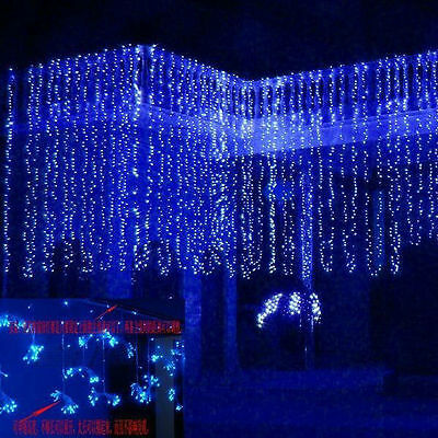 10*3M 1000LED Icicle Curtain Lights Fairy String Wedding Party Outdoor Decor