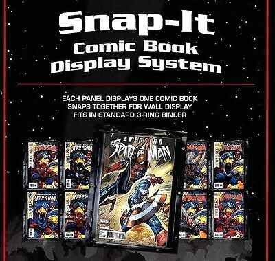12 BCW Snap It Comic Book Wall Display Panel Holder Sleeve System