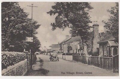 The Village Street Corton Suffolk 1927 Postcard, B720