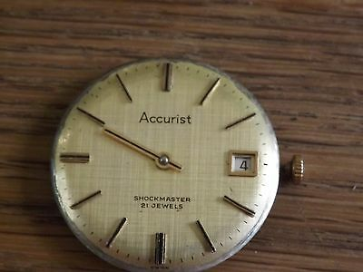 Interesting Vintage Accurist 21 Jewels Wristwatch Movement
