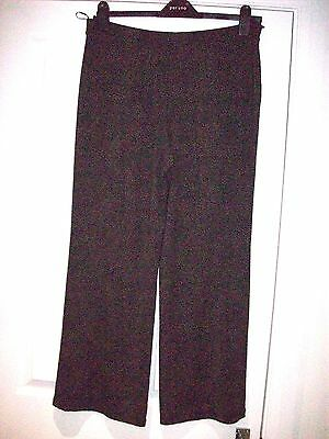 MARKS & SPENCER SIise 14  medium PULL UP TROUSERS STRETCH  BLACK TAN