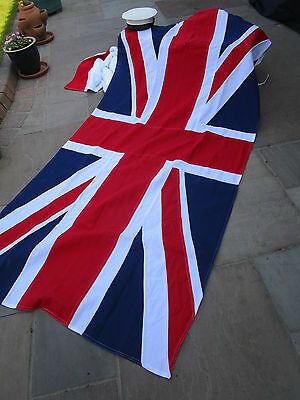 """Vintage Ex British Military UNION JACK FLAG BRITISH MADE approx 7ft 1"""" x 4ft 3"""