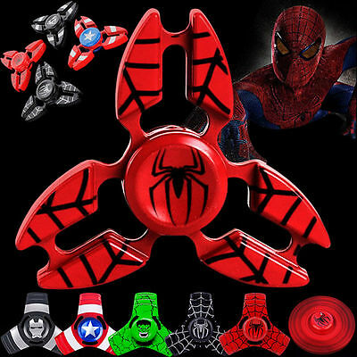 MARVEL Iron Spider Man Tri Spinner Fidget Hand Focus Toy EDC Bearing Anti Stress