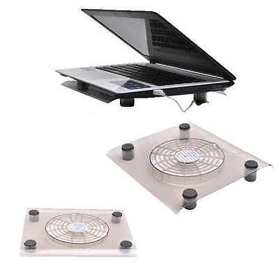 """10-12"""" USB Powered Laptop Notebook Cooler Cooling Pad Fan Stand Blue LED Light"""