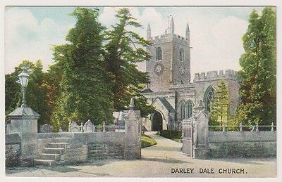 Derbyshire postcard - Darley Dale Church
