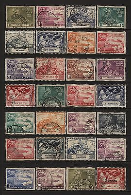 British Commonwealth 1949 UPU 28 Stamps Used