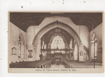 Interior St Peters Church Chalfont St Peter 1945 Postcard 757a