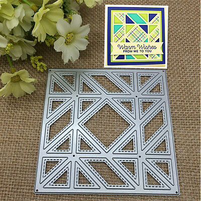 Diagonal Quilt Metal Cutting Dies Stencil Scrapbooking Card Embossing Craft DIY