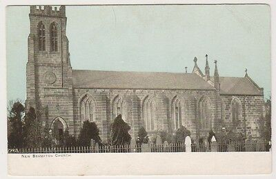 Derbyshire postcard - New Brampton Church