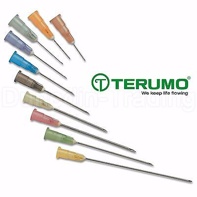 "Terumo Agani Sterile Hypodermic Needles, Cream 19G x 1"" (1.1 x 25mm), Qty 10"