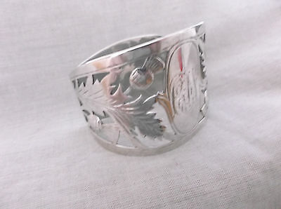 "An Unusual  Edwardian   Sterling Silver "" D Style""  Napkin Ring  Birmingham 1906"