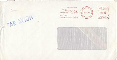France cover meter stamp Concorde from Toulouse ft57