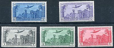 1931 - Libya, Tripolitania - Colonial Agricultural Institute Set Of 5, Umm