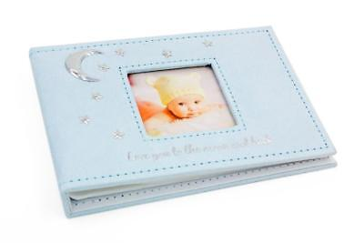 "Baby Boy Gift Love You To The Moon and Back Photo Album 4x6"" Boxed 272423"