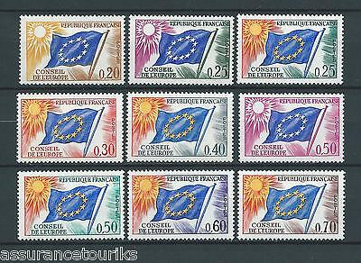 FRANCE SERVICE - 1963-71 YT 27 à 35 - TIMBRES NEUFS** LUXE