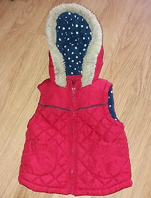 Mothercare girls gilet age 18-24 months