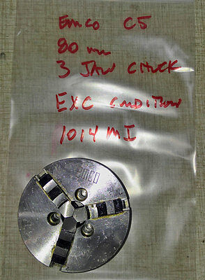 Emco Compact 5 Lathe 3 Jaw 80mm Chuck #1   1014MIR