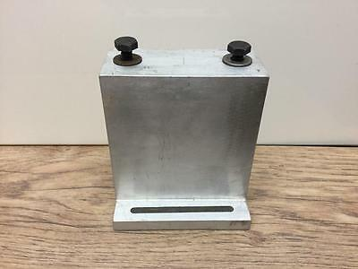 Heavy Solid Aluminium Spacer Or Riser Block For Watchmakers Lathe Motor