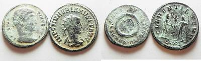 ZURQIEH - aa6157- LOT OF 2 ROMAN AE COINS