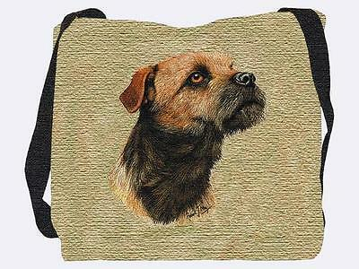 Woven Tote Bag - Border Terrier 1139