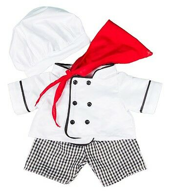 "Chef costume cook outfit teddy bear clothes fits 15"" Build a Bear"