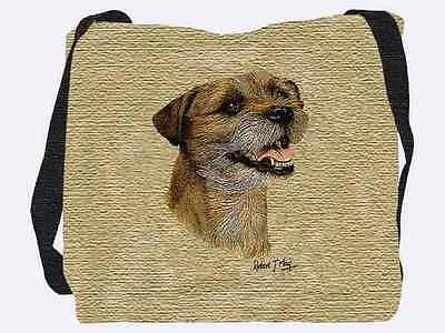 Woven Tote Bag - Border Terrier  II