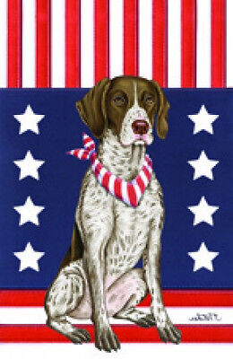 Garden Indoor/Outdoor Patriot (TP) Flag - German Shorthaired Pointer 750491