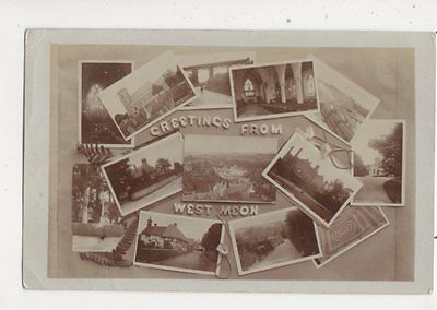 Greetings From West Meon Hampshire 1911 RP Postcard